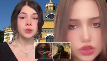 Девушки, которые устроили дебош в храме на Пасху в Киеве записали видео со своими извинениями. Видео